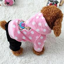 Hot  Pet Dog Hoodie Clothing Puppy Dog like Brand Warm Dog Pajamas Clothes Warm Sleeping Pomeranian Dog Coat Jumpsuit