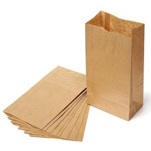 Set of 100 Kraft Paper Small Gift Bags Sandwich Bread Food Bags Party Wedding Favour Free Shipping 24X12.5X7.5cm