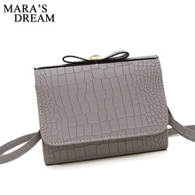Mara's Dream 2017 Women Messenger Bags Mini alligator Handbag bow shoulder bags Flap Hand Crossbody Bag For Lady Sac Femme Bolsa