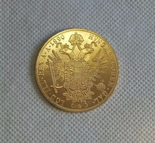 1890-1894 Austria 4 Ducat Gold Coin COPY FREE SHIPPING