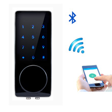 Mobile Bluetooth Door Lock APP Control, Password, Key Electronic Touch Screen Keypad Code Digital Lock Smart Entry 76AP-3