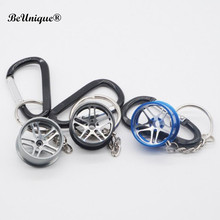 Fast & Furious 8 wheel hub design Key chain Cool autoparts pendant luxury Car keyring with climbing hook Street fashion jewelry