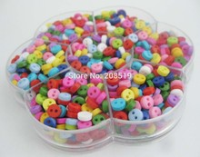 NBNLOL 1000pcs/box Craft buttons assorted colors 2 holes Round 6mm small resin buttons for scrapbooking