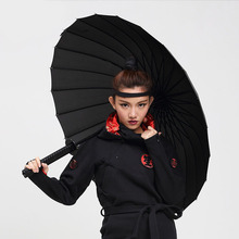 Samurai Sword Gentles Ladies Fully-Automatic Aluminium Fiberglass Strong Fram Long Straight Handle compact Big Rain Umbrella