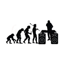 Evolution DJ Music Car Sticker Wall Home Glass Window Door Laptop Auto Truck Motorcycle Black Vinyl Decor Decal 17.9cmX8.5cm