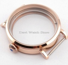 46mm rose golden case watch ETA 6497 6498 Seagull st36 Movement Kit Parnis Big Watch 316L watches case