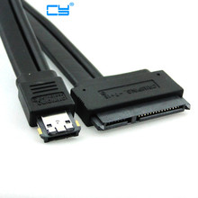 "50cm 100cm Dual Power 12V and 5V eSATAp Power ESATA USB 2.0 combo to 22Pin SATA cable for 2.5"" 3.5"" Hard Disk Drive"
