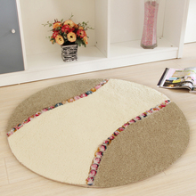 Pastoral Style Circular Mat Computer Chair Sitting Room Office Swivel Chair Cushion Hanging Basket Bathroom Carpet Tea Table Rug(China)