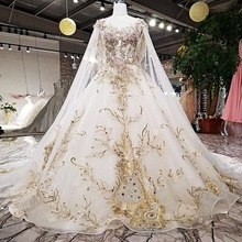 Buy High-End Customized Wedding Dresses Luxury Lace Appliques Beading Cathedral/Royal Train Long Cape Veil Formal Bridal Gowns for $388.66 in AliExpress store
