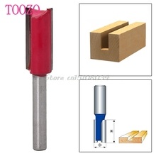 "1/4 ""Shank 1/2"" Blade Woodworking Double Flutes Straight Router Bit Cutter Tool #S018Y# High Quality"