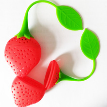 Silicone Strawberry Design Loose Tea Leaf Strainer Herbal Spice Infuser Filter Tools