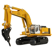 KDW 1:87 Scale Engineering Vehicle Crawler Hydraulic Excavator Alloy Model Truck Diecast Toy Collectible Gift for Kids