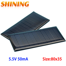 2PCS 5.5V 50mA 0.275W Mini Polycrystalline Solar Panel Small Solar Cell Charger For 3.6V Battery DIY Solar Modules LED Light