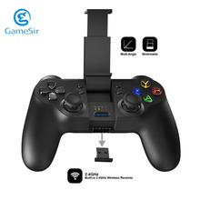 GameSir Original 2.4GHz Wireless Bluetooth Gamepad Game Controller Wired Joystick 3 MCU Chip Backlight for PS3 PC Android Phone(China)