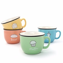 Creative Candy Color Ceramic Mug Coffee Milk Breakfast Cup Cute Porcelain Tea Mugs 250ml Novetly Gifts Custom Mugs&Cups