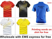 For Wholesale man woman new badminton shirt clothes table tennis shirt tennis clothes shirt T shirt