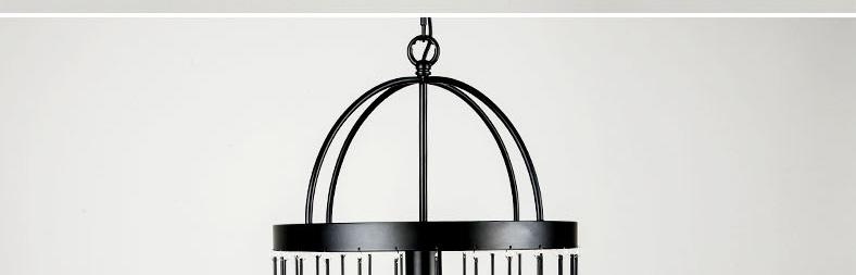 Modern iron cage pendant light hallway restaurant study balcony ...