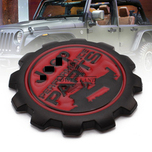 3D Refitting Metal Black+Red Vintage Car Sticker Badge Emblem Universal for Jeep Performance PARTS Wrangler Grand Cherokee