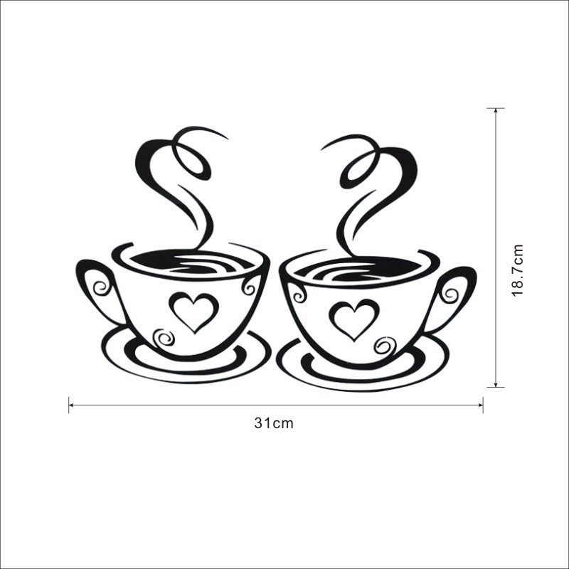 HTB1blr SFXXXXbGXXXXq6xXFXXXO - Double Coffee Cups Beautiful Design tea Kitchen Wall Sticker-Free Shipping
