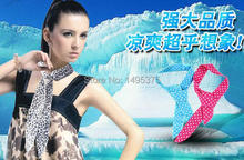 1000pcs/lot mixed design Magic Cooling Cold Water Neck Cooler Scarf Ice Towel(China)