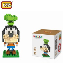 LOZ Single Sale Mini Big Head Goofy Dog Diamond Bricks Cartoon Doll Educational Building Blocks Toys Children 9417 - LOZs Block Store store