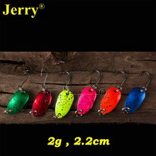 Jerry 6pcs 2g pesca micro mini trout spoon lures ultralight river fishing spoons spinner perch bait(China)