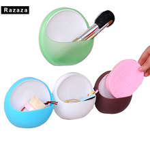 New Soap Storage Box Dish Case Makeup brushes Water Drain Sponge Holder For Kitchen Sucker Bathroom Organizer Shelf Container(China)