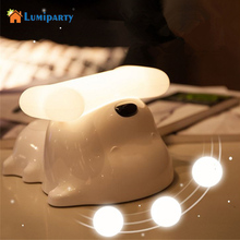 Lumiparty Puppy Nightlight Inline Dog Bedside Lamp Stepless Light Regulating Timing Touch Induction Atmosphere Lamp