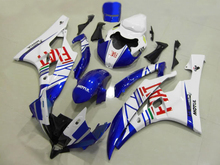 Injection Mold Motorcycle Fairing kit for YZFR6 06 07 YZF R6 2006 2007 YZF600 FlAT White blue Fairings set+7gifts YF01