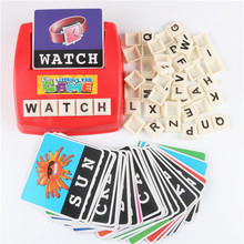 Learning Machine, Learn English Word Puzzle Toy, Children's Educational Toys, Baby Literacy Fun Game, English Learning Cards(China)