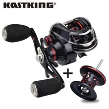 KastKing Royale Legend 7.0:1 8KG Max Drag Power 12BBs Carp Fishing Gear Baitcasting Reel with Extra Aluminum Spool