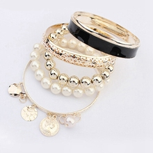 Pulseira Masculina Best Sale ! Fashion New Style Exquisite Hollow Bracelet Bangle Coins Avatar Bead Charm Free