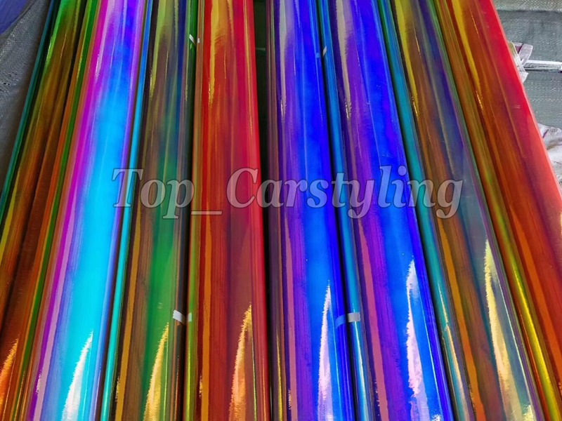 rainbow chrome holographic car wrapping film (3)