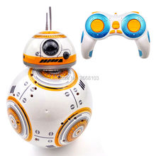 Upgrade Model Ball Star Wars RC BB-8 Droid Robot BB8 Intelligent Robot 2.4G Remote Control Toys For Girl Gifts With Sound Action(China)