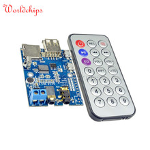Micro USB 5V Power Three MP3+WMA+WAV Decoder Board Audio Module Remote Control 2W Amplifier MP3 Player Support UDisk/TF Download