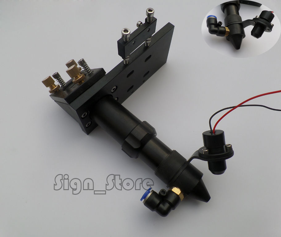 DIY CO2 Laser Head RED Dot Pointer Module Positioning Integrative Mount 50.8/100mm Focal Focus Lens 25mm Mirror Holder 20mm<br>