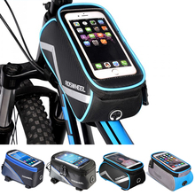 NEW Roswheel Bicycle Bags Frame Front Head Top Tube Waterproof Bike Bags&Double IPouch Cycling For 5.5-6.2 in Cell Phone Touch(China)