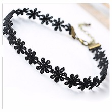 NK715 Fashion Hot Collares 2017 Vintage Collier Love Flower Necklace Choker For Women Chain Jewelry Statement collier