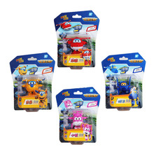 4PCS/Set Super Wings Deformation Mini JET ABS Robot toy Action Figures Super Wing Transformation toys for children gift(China)