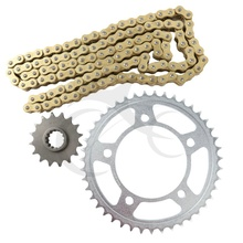 New Gold O-Ring Chain and Sprocket Kit For HONDA XL 1000V VARADERO 1999-2010 CB 600 FA HORNET 2008-2010 CBR 900 RR SC33(China)