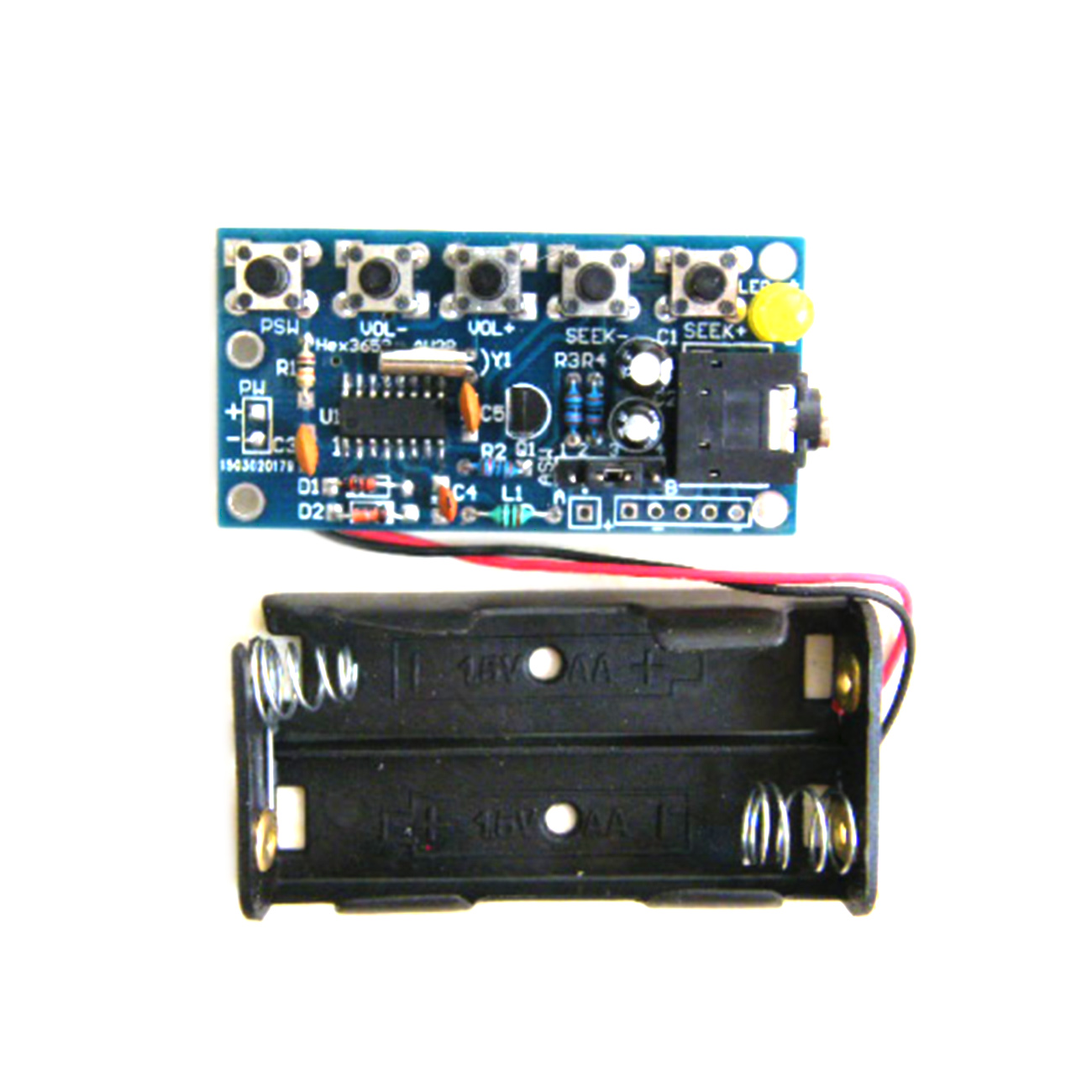 76-108MHz Stereo FM Radio Receiver Module PCB Electronic Soldering Practice Kits for DIY