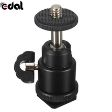 EDAL NEW For Camera Tripod LED Light Flash Bracket Holder Mount 1/4 Hot Shoe Adapter Cradle Ball Head with Lock Cheap(China)