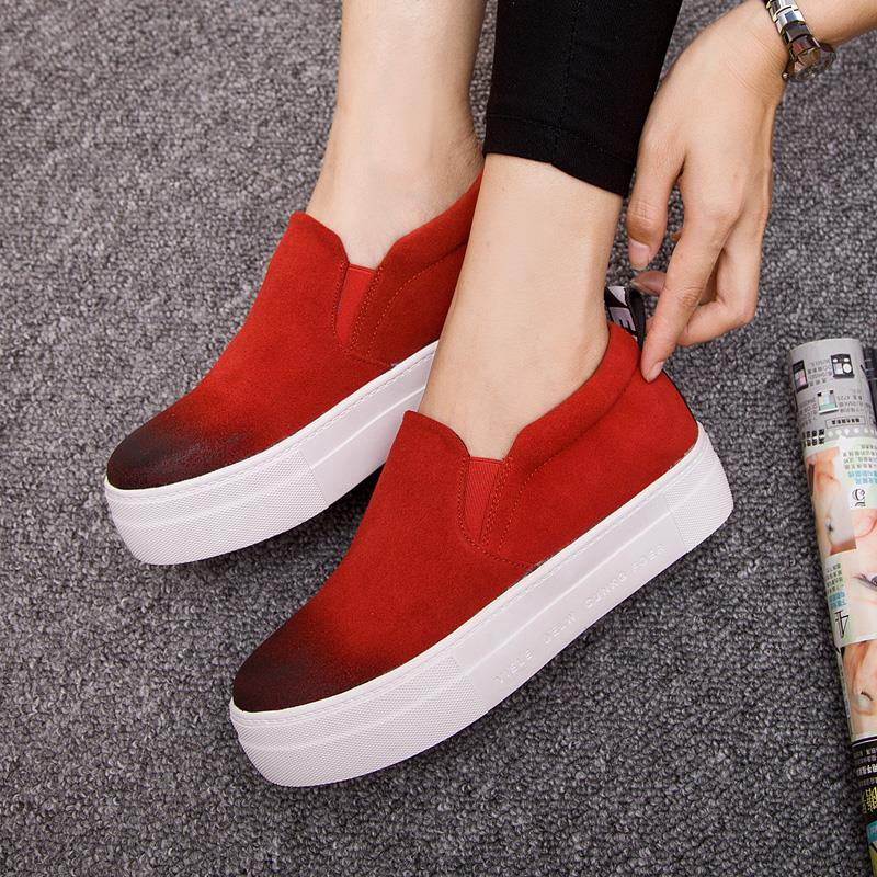 New 2015 Summer Style Women Platform Shoes Soft Genuine Leather Shoes Woman Fashion Candy Color Loafers Shoes Woman Size:35-39<br><br>Aliexpress