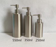 High-quality Stainless Steel Liquid Soap Dispenser Hand Sanitizer Bottle for Bathroom Kitchen Countertop Bathroom Accessory