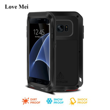 Love Mei Powerful Metal Armor Case Cover For Samsung Galaxy S7 Edge G9350 Aluminum Shell Fundas Water/Dirt/Shock/Rain Proof Case