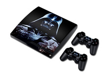 100sets STICKER COVER  for PS3 SLIM + 2 CONTROLLER SKINS for PS3 skin stickers Star Wars Designs