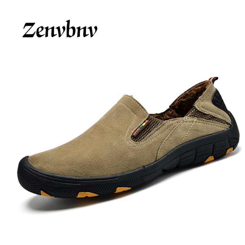 ZENVBNV Men 100% Genuine Leather Fashion Casual Shoes Handmade Winter High Quality Men Flats Shoes Zapatos Hombre loafers shoes<br>