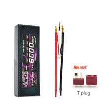 2pcs HRB RC Lipo Battery 6000mah 7.4V 2S Max 120C Li-polymer battery Hard Case Banana Connector for RC helicopter Truck(China)