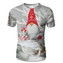 DUTRODU Men's Merry Christmas Santa Claus custom 3D White(China)