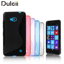 For Microsoft Lumia 640 Dual SIM Case S Line Pattern Flexible TPU Gel Case for Microsoft Lumia 640 Dual Sim / 640 LTE - 5.0 inch